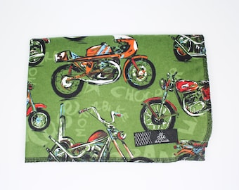 """Motorcycle Extra Large Receiving Blanket - 36"""" x 42"""""""