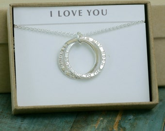 Gift for bride from groom, engagement gift for bride, love necklace, anniversary gift for wife, anniversary gift for her - Lilia