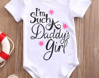 Im such a daddys girl baby girl top shirt