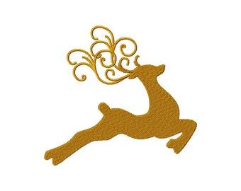 INSTANT DOWNLOAD Decorative Reindeer Machine Embroidery Design