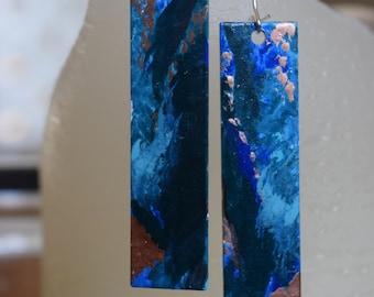 Hand-painted Enamel Drop Earrings