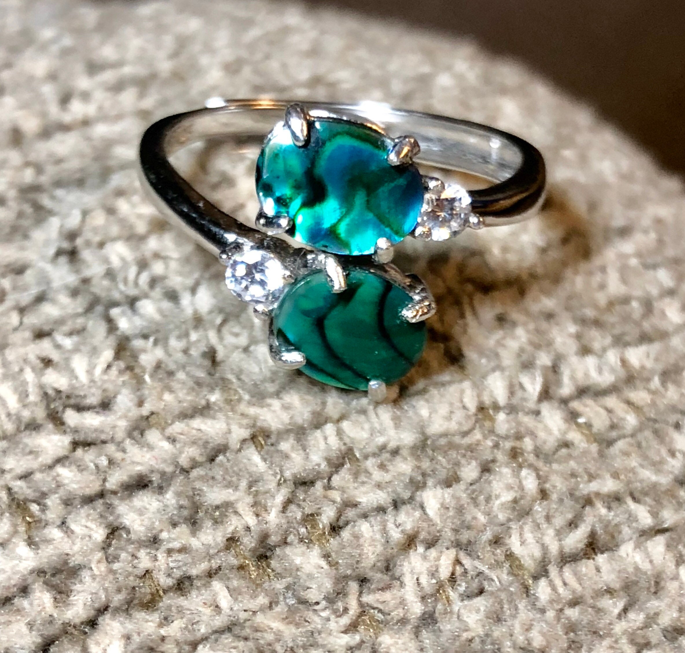 orders silver jewelry free rings heart abalone over shell on thailand watches engagement overstock handmade ring sterling sweet product shipping