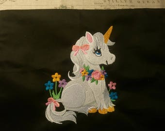 Unicorn/Fantasy Inspired Embroidery Apron