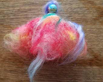 Pink Felted Flower Fairy