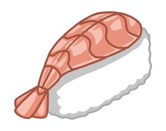 Kawaii Sushi! Ebi Nigiri Sticker