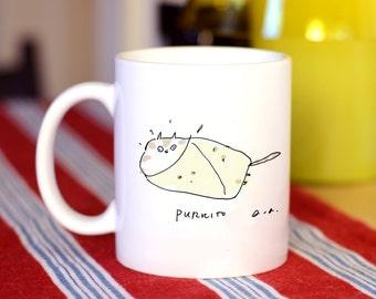 Cat Mug - Purrito Cat - Funny Cat Mug - Cat Dad or Cat Mom Gift - Cat Gift- On Sale