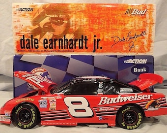 Coin Piggy Bank Dale Earnhardt Jr #8 Budweiser 1999 Monte Carlo scale 1/24 NASCAR Race Racing Diecast Car Action Limited Edition 1 of 3,000