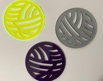 Yarn ball coasters