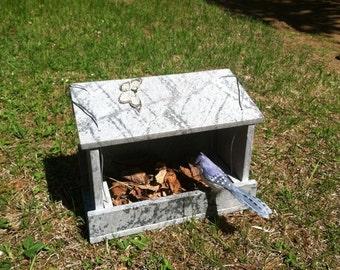 Bird Feeder , Bird House made of Stone