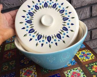 Marcrest Alpine Swiss Chalet Ceramic Casserole Excellent Hard to Find FREE SHIP