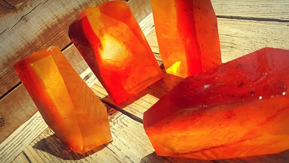 "Fire and Brimstone ""Amber""  Crystal Soap"