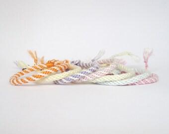 Friendship bracelet, kumihimo bracelet, cotton thread bracelet, woven bracelet, cotton yarn bracelet, natural bracelet