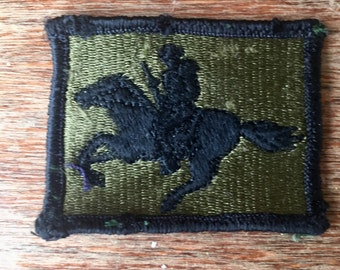 Vintage 1970's Wyoming Army National Guard Subdued Patch for Fatigue Uniform