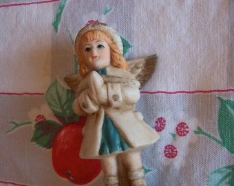 little glass angel figurine