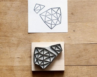 Crystal Configuration 11 - Hand Carved Stamp