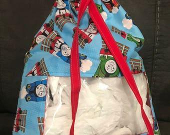 Peek a Boo Drawstring Toy Bag, Thomas the Train