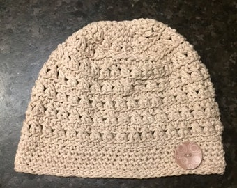 Spring, Summer, Fall Crocheted Slouch Hat