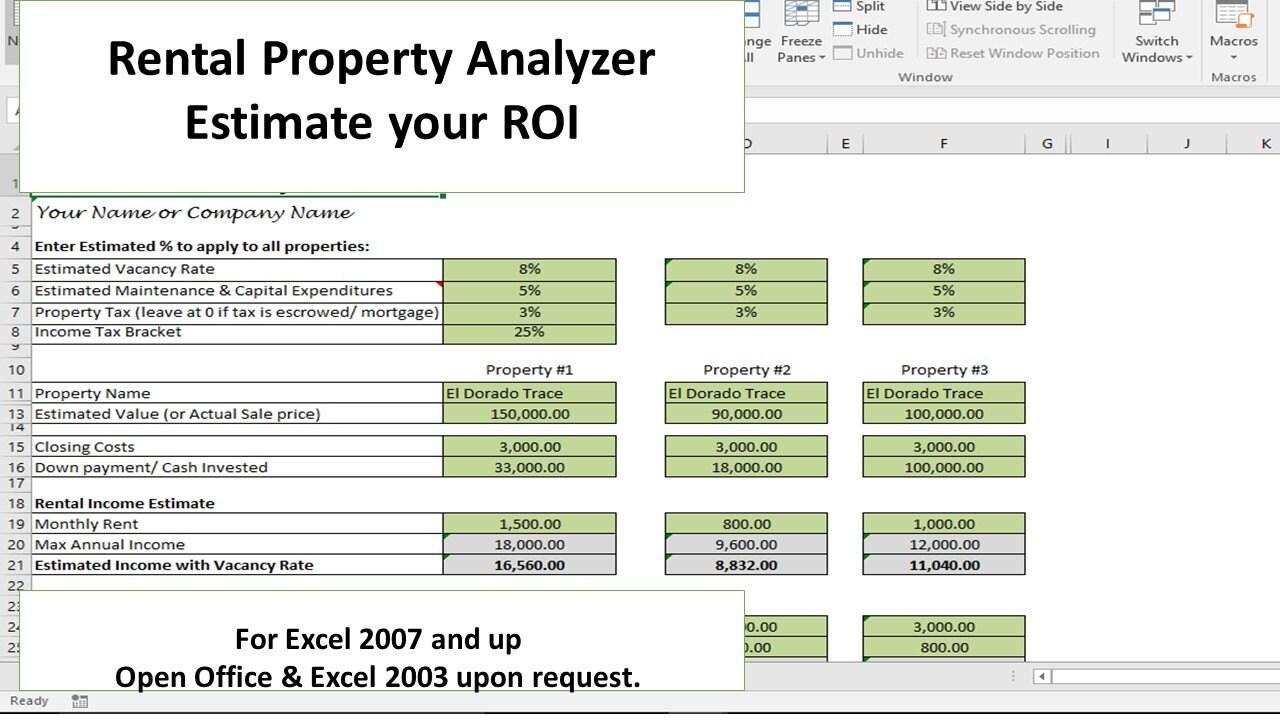 investment property analyzer rental property calculator