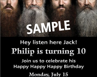 Duck dynasty party etsy duck dynasty personalized birthday party invitation filmwisefo