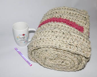 Ribbed and ready super long extra bulky scarf