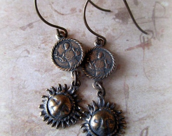 St. Francis and Brother Sun Earrings