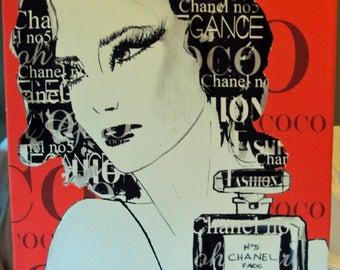 Coco Chanel Pop Art Canvas by Balea-Raitz 24 x 18 Giclee?