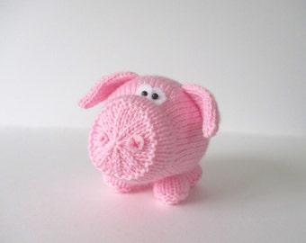 Twiglet the Piglet toy knitting pattern