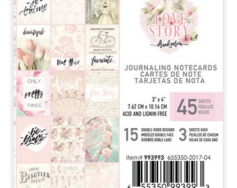 Love Story 3x4 Journaling Cards