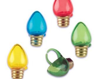 CHRISTMAS LIGHTBULBS Cupcake Rings
