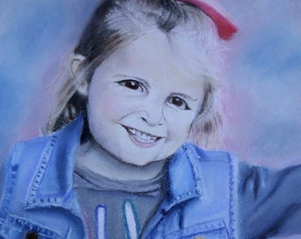 Custom Pastel Portrait - Painting From Photograph