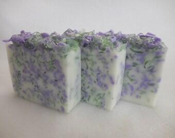 Lavender Sage SOAP LOAF - Lavender Soap - Sage Soap - Rustic Wedding Favor - Baby Shower Party Favor - Shea Butter Soap - Lavender Soap Bulk