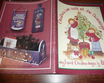 Vintage Christmas Love With All The Trimmings Painting Book
