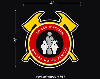Sticker / window / Sticker / Window / family / Family / fire / Fire / Safety / Security