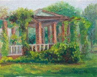 Romantic Garden - Original Plein air Painting
