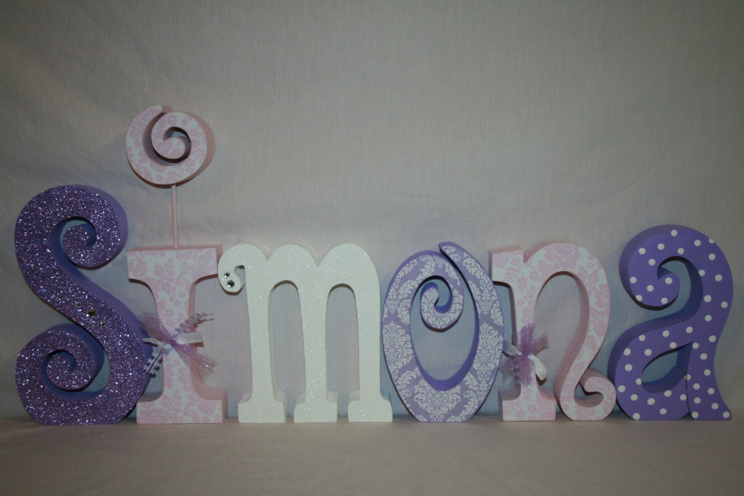 Nursery letters Hanging letters Wooden letters 6 letter
