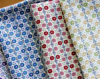 Floral Print Fabric - Wallpaper Floral - Cotton Fabric - Fat Quarter