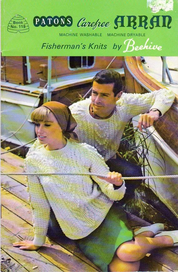 Mallas de pescador de los patons Carfree, suéter que hace punto ...