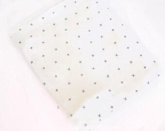 Swaddle Blanket, Baby Blanket, Cot Blanket, Baby Wrap, Bassinet Blanket -mini swiss cross print