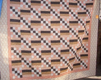 Hand Crafted Queen/King Size Nice & Easy 100% Cotton Quilt