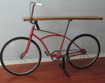 Vintage Bicycle Table/Bar/Shelf