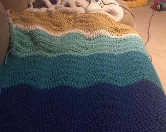 Ocean Themed Crochet Blanket