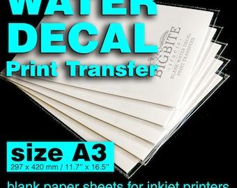 Clear Water Slide Decal Paper A3 INKJET Waterslide Transfer Paper, DIY projects,