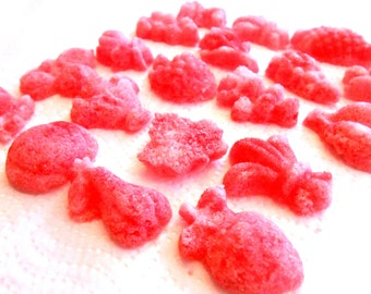 Flavored Sugar Cubes,- Sugar, Fruits and Roses, for Champagne Toasts, Tea Parties, Favors, Tea, Coffee, Lemonade, Cider 6 Oz Bag