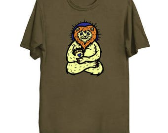 Spirit Animal Lion Ringspun cotton T-shirt, multiple color options available