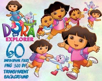 Dora the Explorer  - Clip Art - PNG - transparent - 300dpi - party - printable