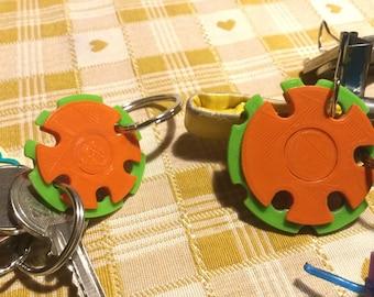 Revolving Keychain, Keychain GestoPlastico patented