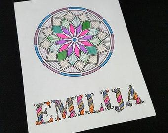 Printable coloring sheet, mandala coloring page, INSTANT DOWNLOAD, printable coloring page, coloring pages for adults, wall art printable