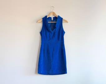 LANA - blue velvet mini