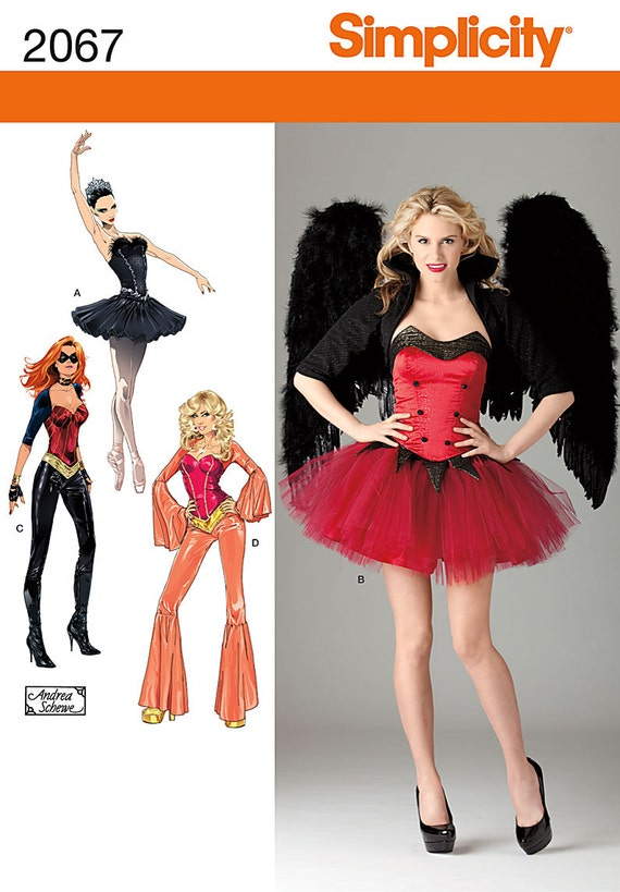 Simplicity 2067 Sewing Pattern, Halloween Costume for Misses, Dark ...