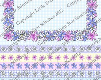 Pink Daisy Frames, tags, sentiments, embellishments.